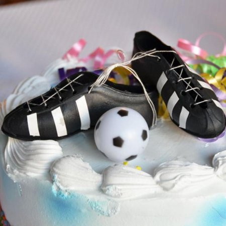 Soccer Cleats and Ball Cake Topper](Soccer Cake Toppers)