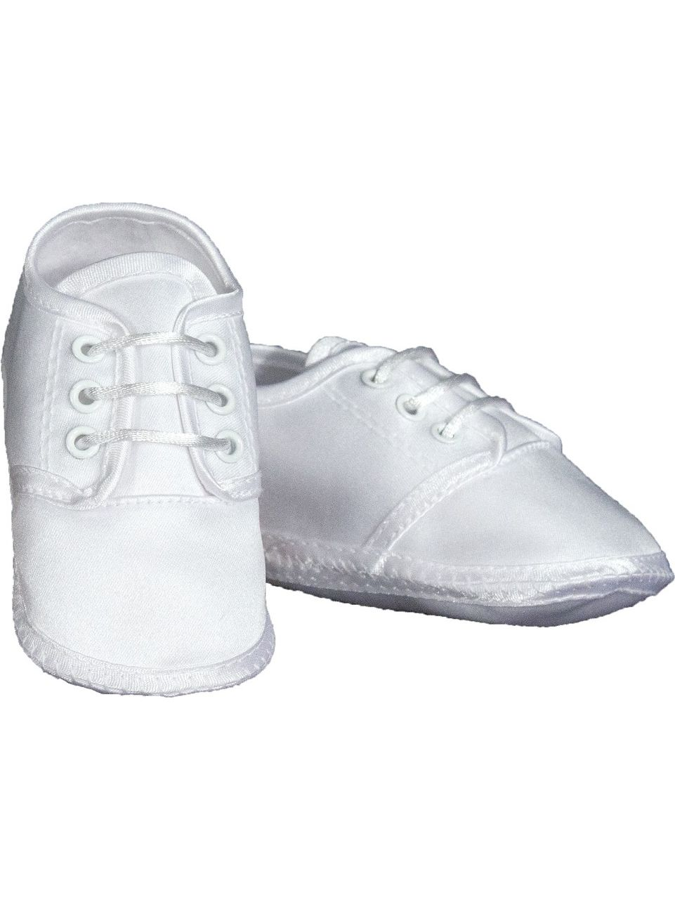 Baby Boys White Satin Classic Oxford Christening Shoes