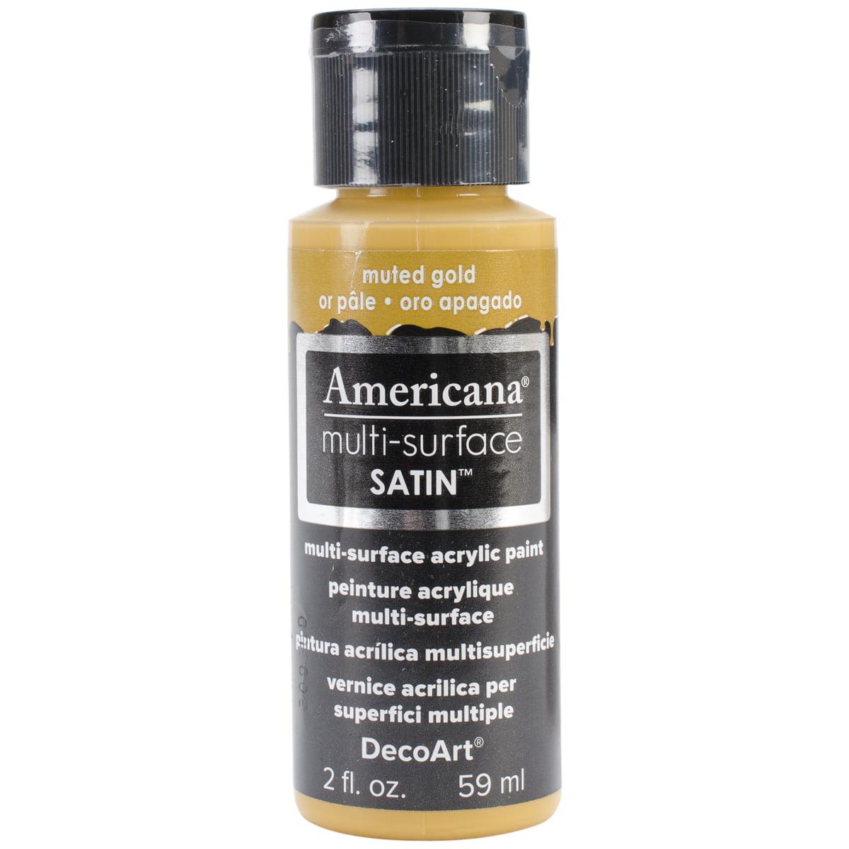 Americana Multi-Surface Satin Acrylic Paint 2oz-Muted Gold