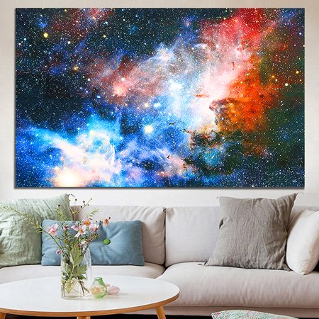 """24'' x 43"""" Space Cosmos Universe Planet Nebula Art Silk Galaxy Painting Poster Home Art Wall Decor GIFT - image 5 of 6"""
