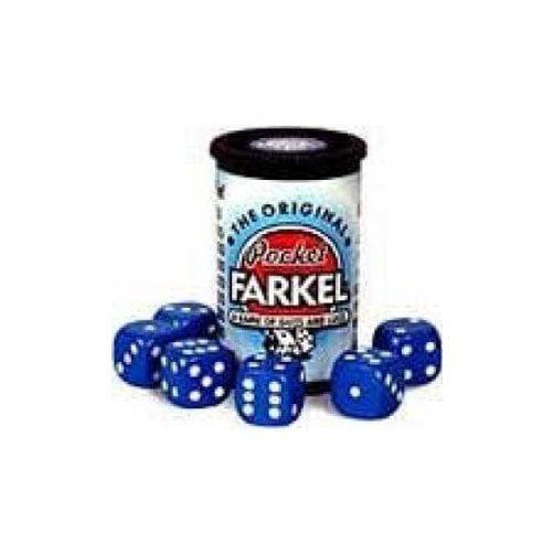 Original Pocket Farkel Dice Game - Miniature Set - Colors May Vary Multi-Colored