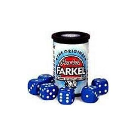 Original Pocket Farkel Dice Game - Miniature Set - Colors May Vary Multi-Colored