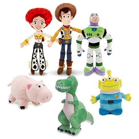 Jessie And Woody From Toy Story (Disney Toy Story Mini Bean Bag Plush Buzz Woody Jessie Rex Alien Hamm Figure Set Collector Toy)