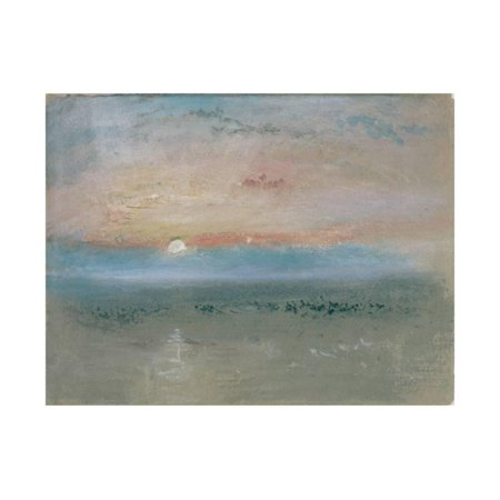 Sunset, C.1830 Ocean Coast Seascape Painting Print Wall Art By J. M. W. Turner