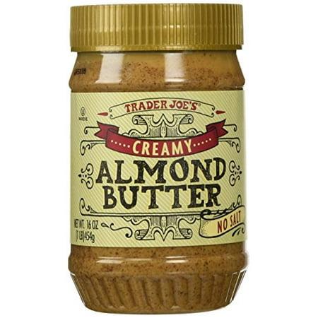 trader joe's creamy almond butter-no salt, 1 lb (0.25 Lb Covered Butter)
