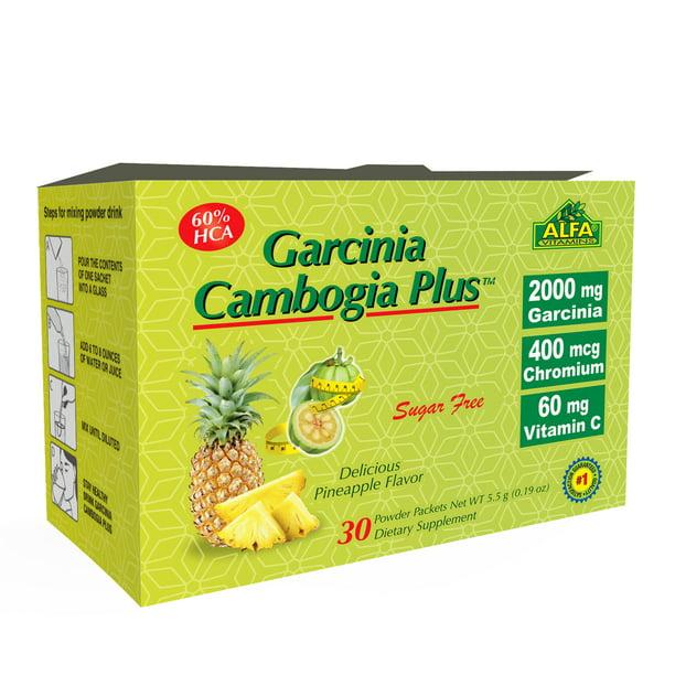 Alfa Garcinia Cambogia Powder 5 5 G 30 Count Walmart Com