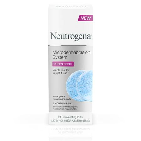 Neutrogena Microdermabrasion Puff Refills, Exfoliator w/ Glycerin, 24 - Microdermabrasion Age Spots