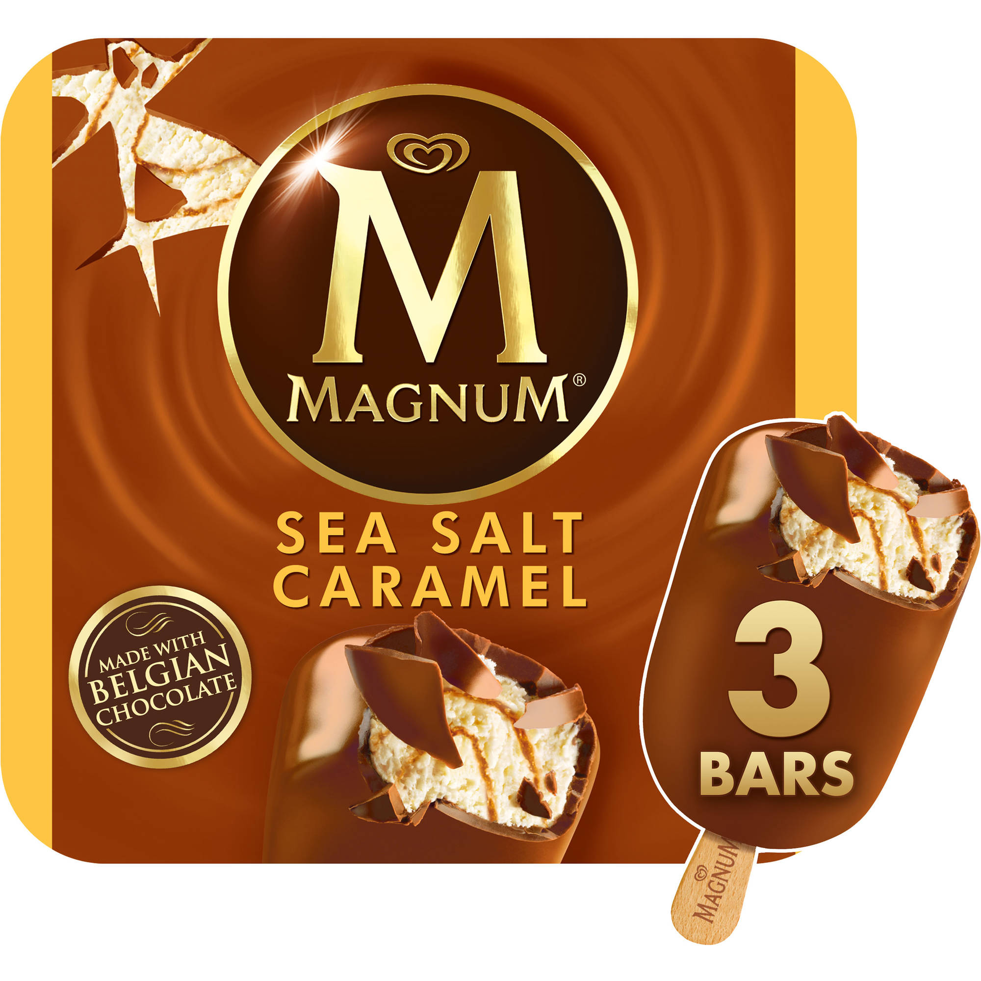 Magnum Sea Salt Caramel Ice Cream Bars, 3 count