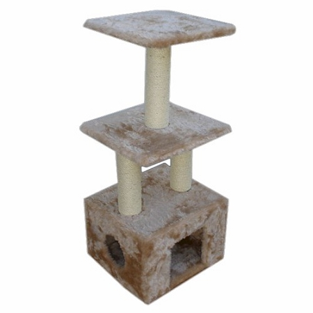 40 in. Faux Fur Casita Cat Tree in Honey by Majestic Pet Products