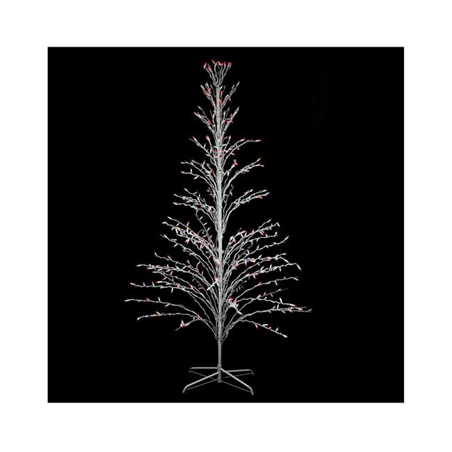 Northlight 32606088 6 ft. White Lighted Christmas Cascade Twig Tree Outdoor Yard Art Decoration - Multi-Color Lights