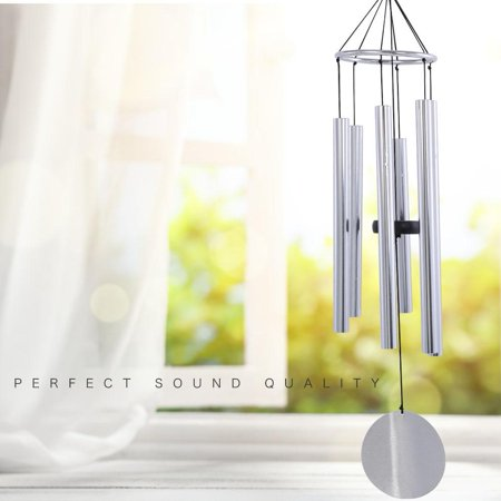 WALFRONT Top Grade Black Large Aluminum Best Tonal Wind Chime Chimes Musical Instrument, Decor Wind Chime,Windchime ()