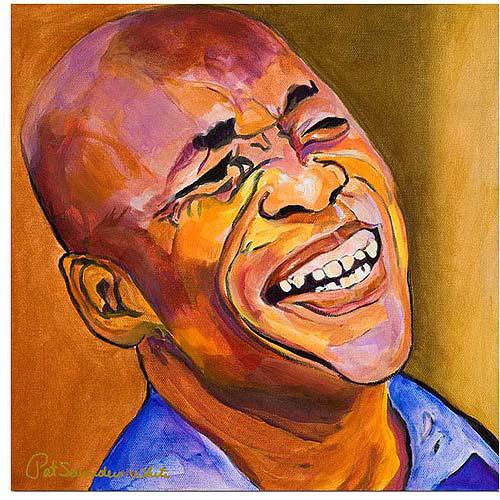 "Trademark Art ""Jazz Man"" Canvas Art by Pat Saunders-White"