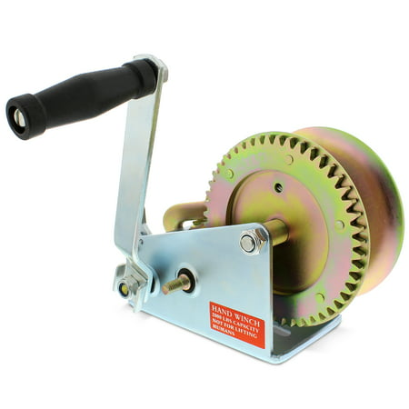 Heavy Duty Spur Gear - ABN Hand Crank Gear Winch & Cable, Heavy Duty up to 2000lbs Trailer, Boat or ATV