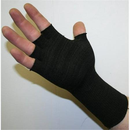 Indogem 736286U Half Finger Compression Gloves  44  Black   Universal