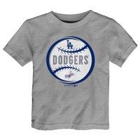 Infant Heathered Gray Los Angeles Dodgers Circle Logo T-Shirt