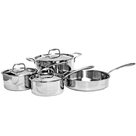Thunder Group TRI-PLY COOKWARE, 7PIECES SET (Restaurant Pot And Pan Set)