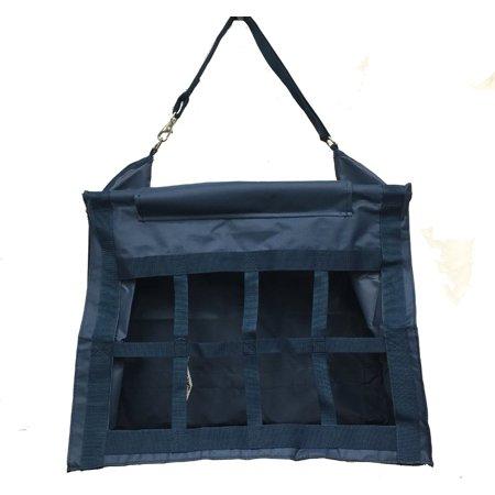 Horse Feed Hay Bag Tote with Dividers Heavy Duty Canvas Nylon Navy Blue