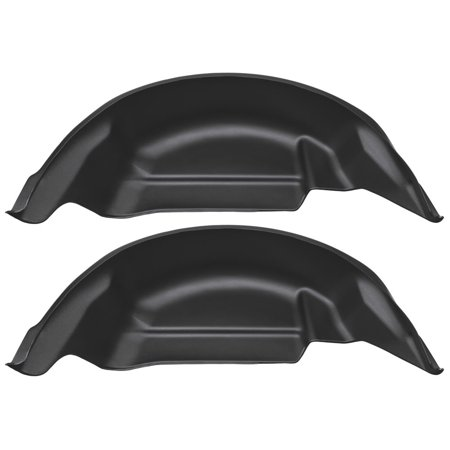 Husky Liners 79121 Black Rear Wheel Well Guards 2015-2019 Ford F-150 (Will not fit Raptor)
