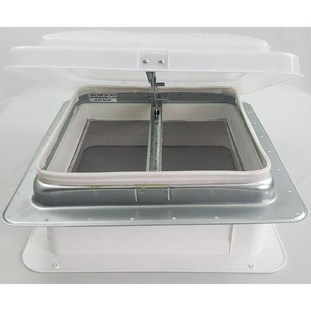 71111 4 Rv Roof Vent Non Poweredwhite Plastic Lid