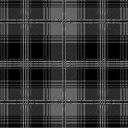 Tartan Plaid Black & Gray Fleece Fabric - Style# 6092 - Free