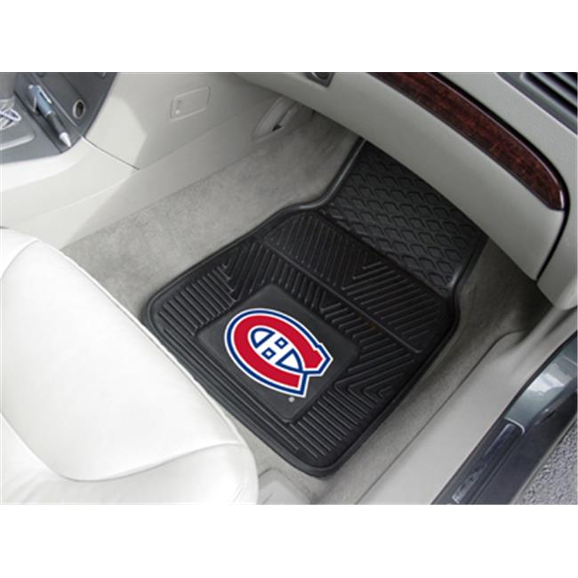 Fanmats 10407 NHL - 18 inch x27 inch  - Montreal Canadiens 2-pc Heavy Duty Vinyl Car Mat Set