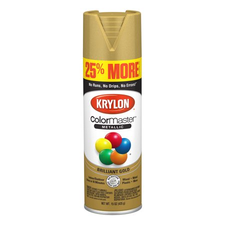 Krylon® ColorMaster Paint + Primer Metallic Gold, 15-Oz