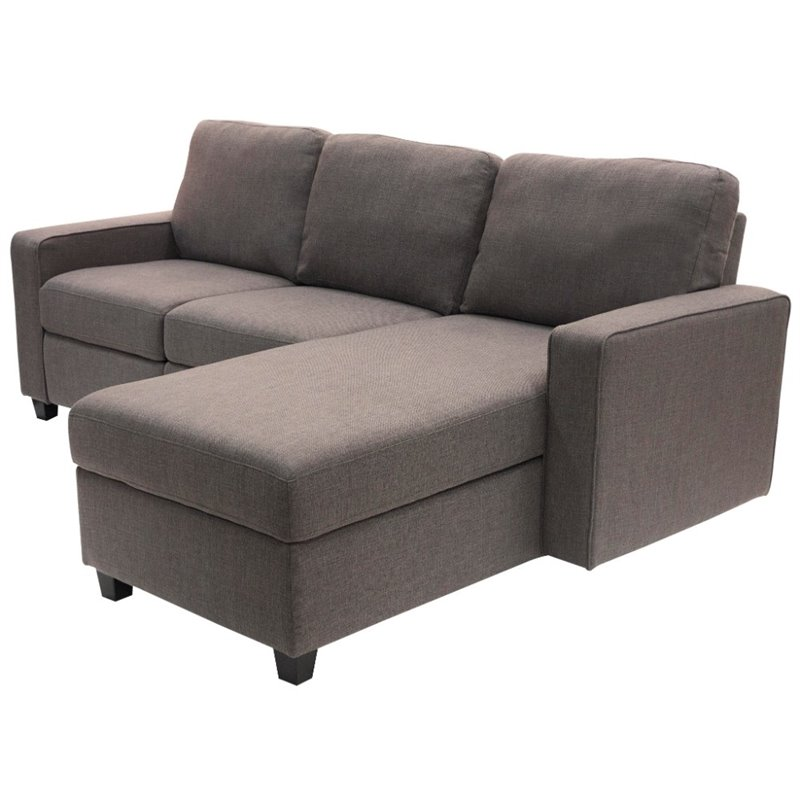 Pemberly Row Right Facing Reclining Sectional in Gray