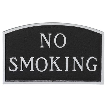 Montague Metal Products No Smoking Arched Wall Plaque