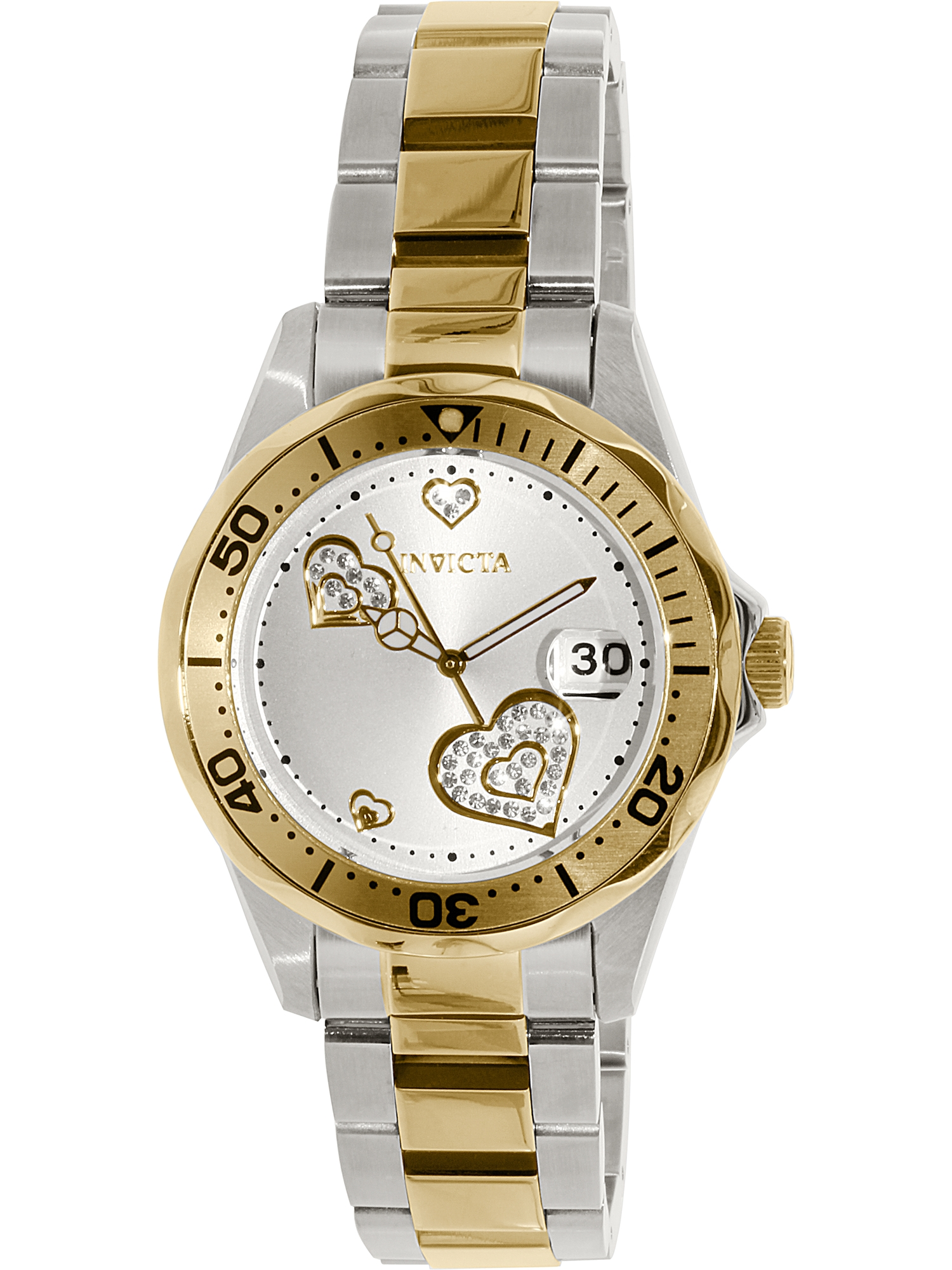 Women's Pro Diver 12287 Gold Stainless-Steel Swiss Quartz Fashion Watch
