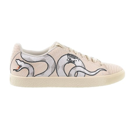 Puma Cylde Snake Embroidery Men's Shoes Whisper White/Grey Violet 368111-01 ()