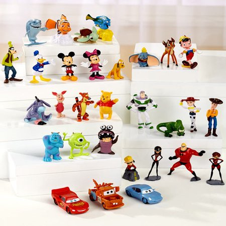 30-Pc. Disney Figurine Set - Disney Halloween Figurines Walmart