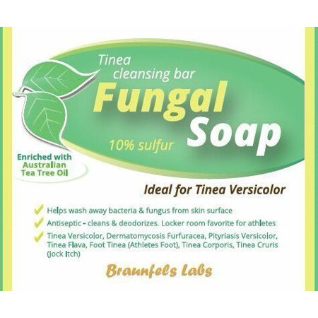 5 Bar Refill Pack - Fungal Soap - Tinea Versicolor, Athletes Foot, Jock