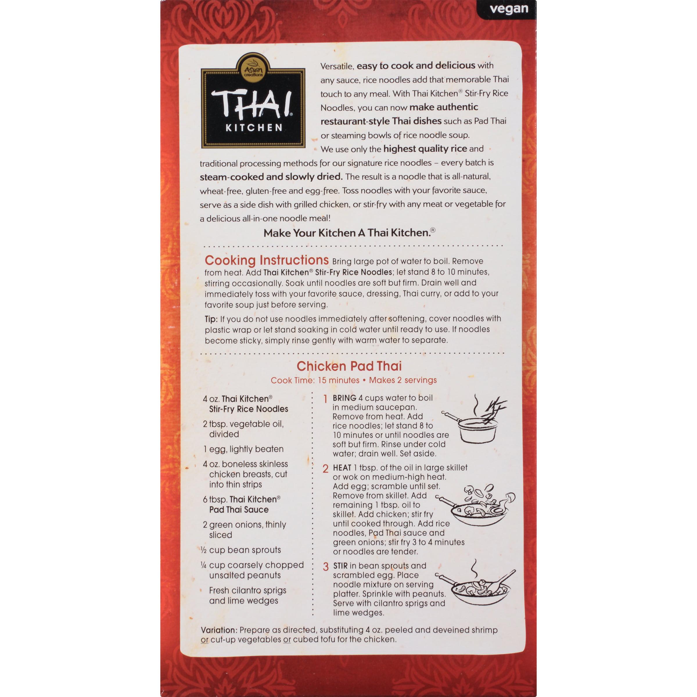 Thai Kitchen Gluten Free Stir Fry Rice Noodles, 14 oz - Walmart.com