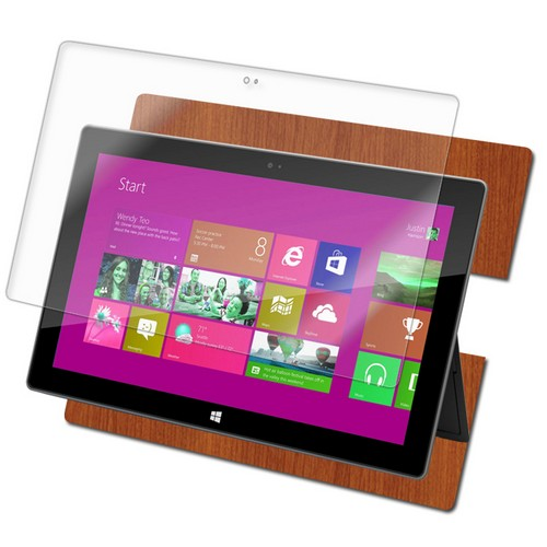 Skinomi Light Wood Skin+LCD Protector for Windows Surface Tablet Windows 8 Pro