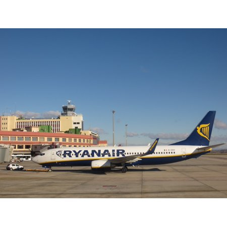Laminated Poster Airport Low Cost Ryanair Plane Poster Print 24 X 36