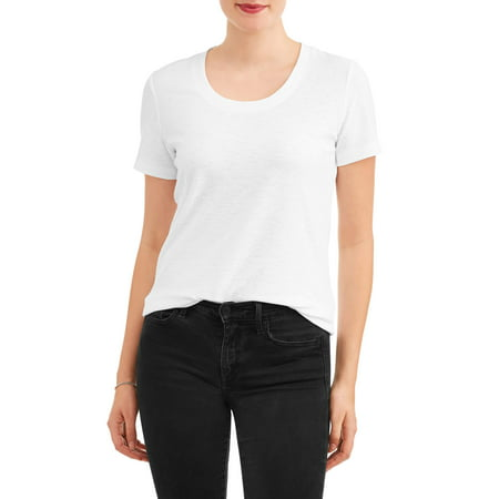 Women's Short Sleeve Textured Crewneck T-Shirt ()