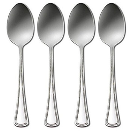 "Oneida Stainless Needlepoint 6"" Teaspoon (Set of Four)"