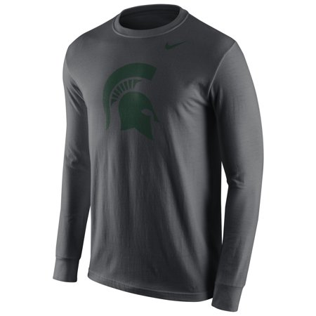Michigan State Spartans Nike Cotton Logo Long Sleeve T-Shirt - Anthracite ()