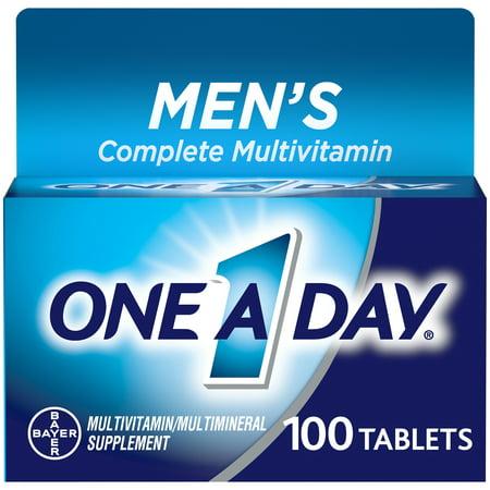 One A Day Men's Multivitamin Tablets, Multivitamins for Men, 100 Count Multivitamin 100 Tabs
