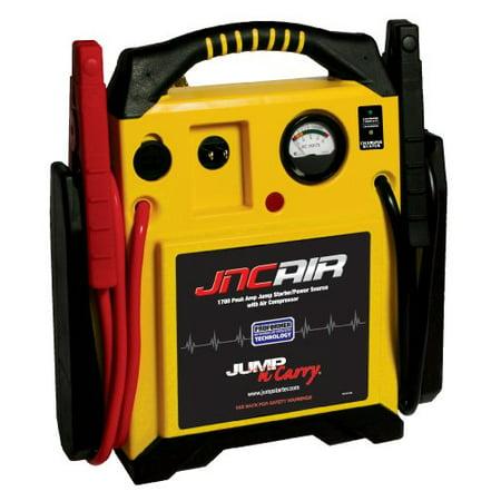 SOLAR JNCAIR Jump-N-Carry 1700 Peak Amp 12 Volt Jump Starter with Integrated Air