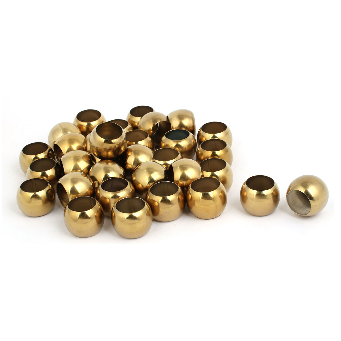 32mmx19.5mm 201 Stainless Steel Hollow Ball Gold Tone 32pcs for Handrail Stair