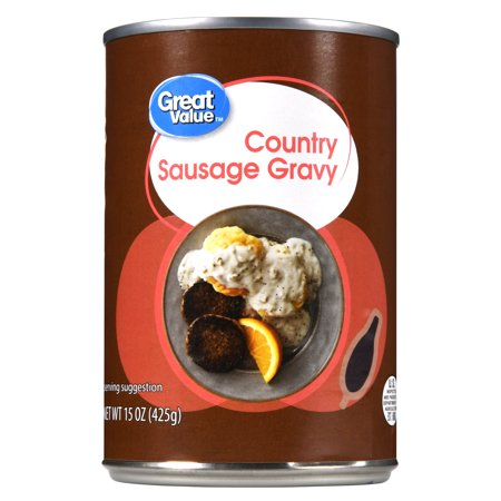 Great Value Country Sausage Gravy, Canned, 15.0 oz