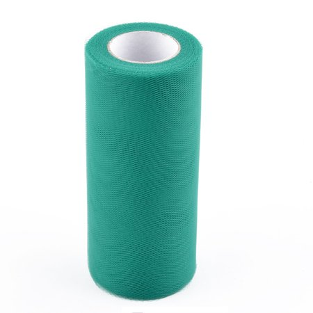 Wedding Party Polyester Table DIY Tulle Spool Roll Dark Green 6 Inch x 25 Yards Diy Wedding Table
