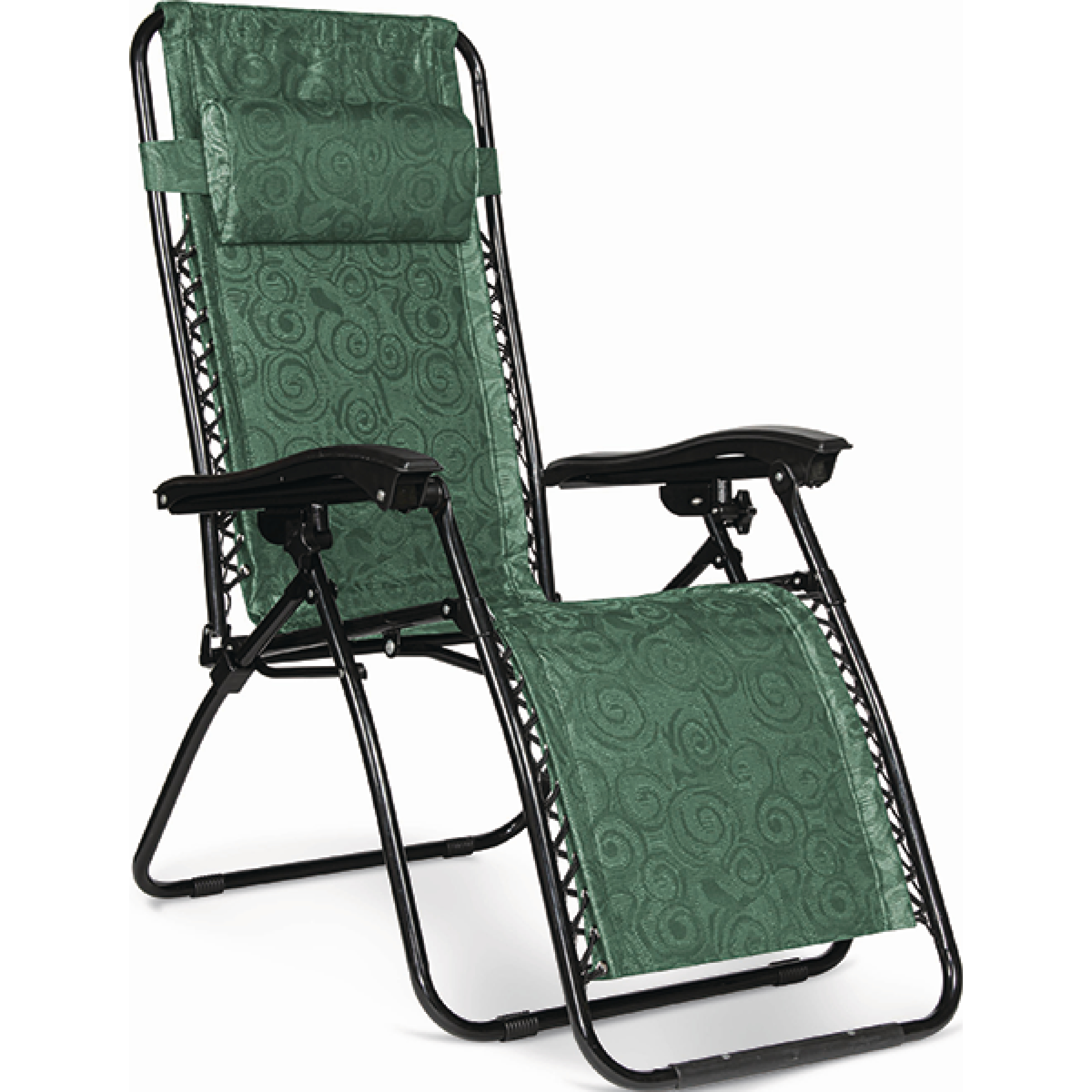 Open Air 51811 Green Zero Gravity RV Camping Non Padded Recliner Chair