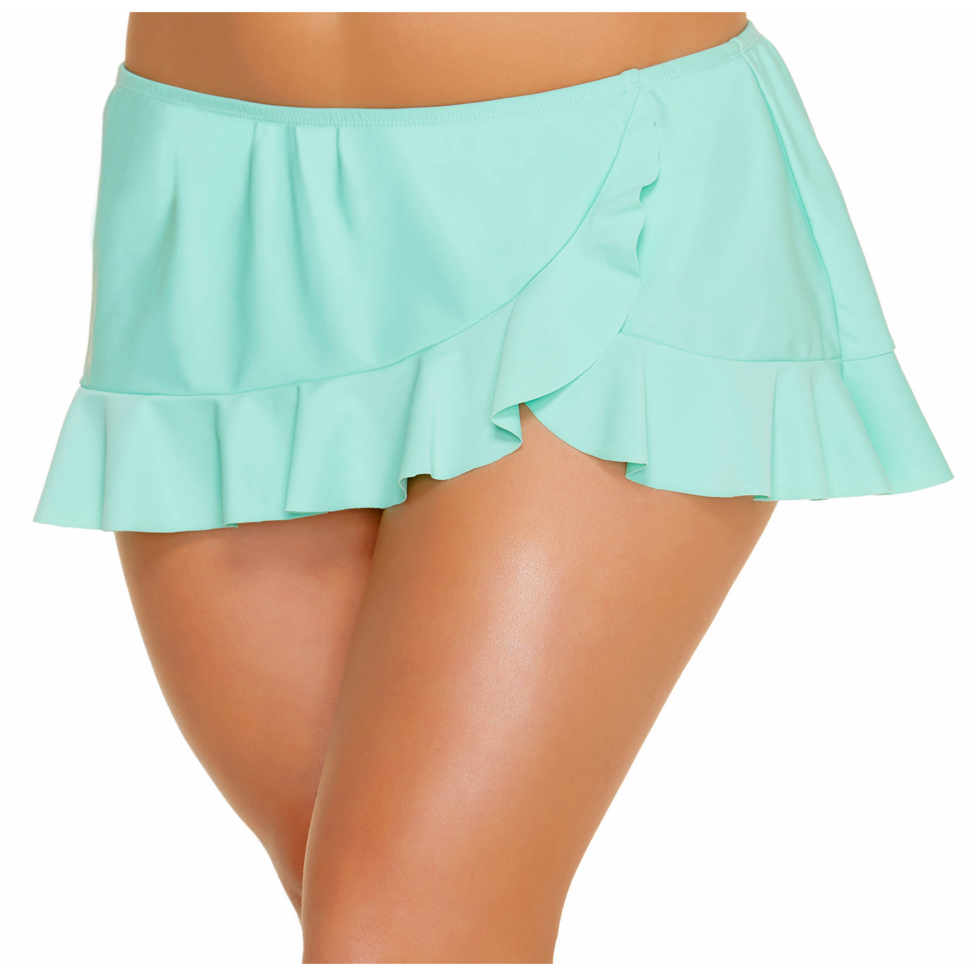 Collections by Catalina Women's Plus-Size Ruffle Skirted Swimsuit Bottom