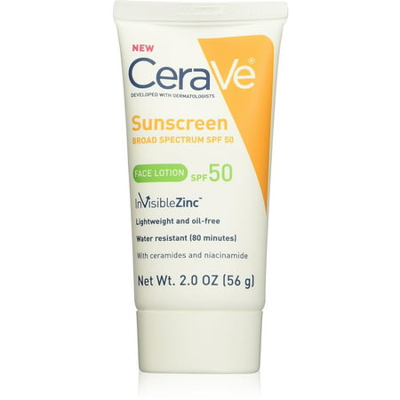Everyday Protection Face Lotion - CeraVe Sunscreen Face Lotion SPF 50 2 oz