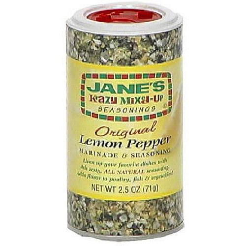 Jane's Krazy Mixed-Up Seasonings Lemon Pepper Marinade & Seasoning, 2.5 oz (Pack of 12)