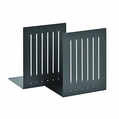 Steel Bookends (steelmaster heavy duty 8-inch steel bookends, 1 pair, black (241080004))
