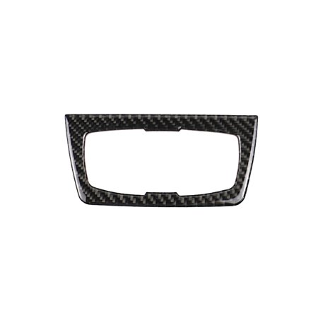 Carbon Fiber Headlight Switch Buttons Decorative Frame Cover Trim Dashboard Interior Molding Sticker for BMW F30 F31 F32 F33 F34 (2012-2020)