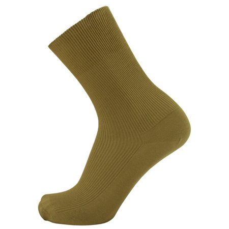 Thin 100% Cotton Socks for Men - 3-pairs in one pack - HIDDEN ELASTIC AT TOP ONLY - select size by your shoe size